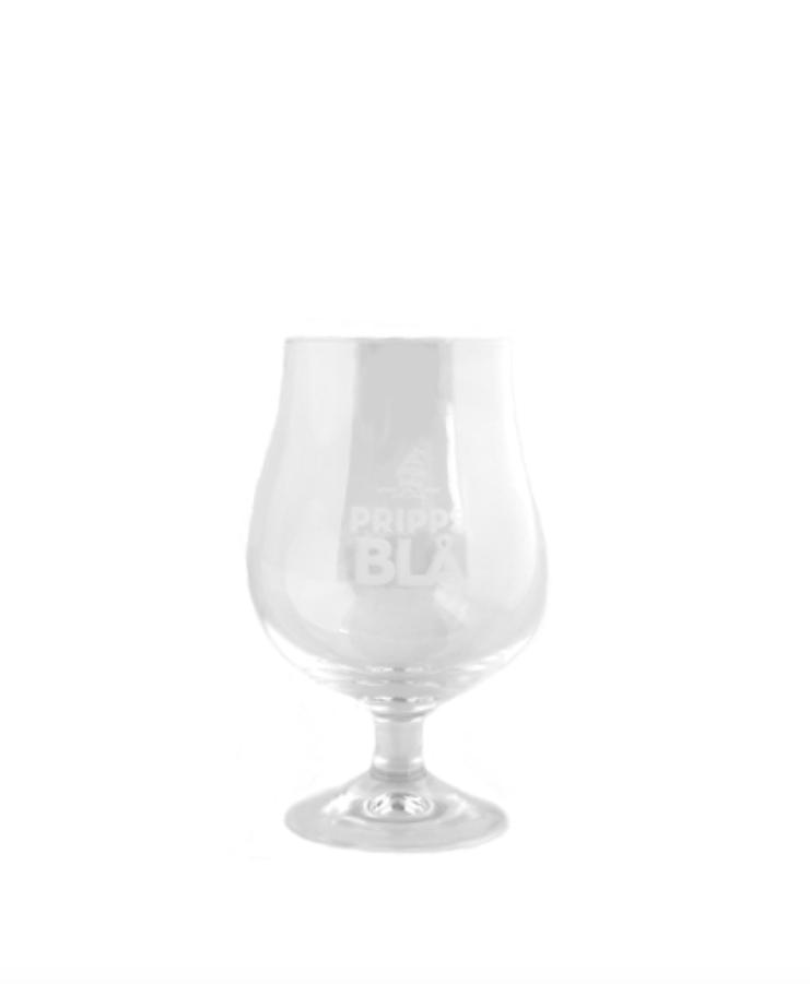 Pripps Blå Ölkupa på fot, Glasspecialisten