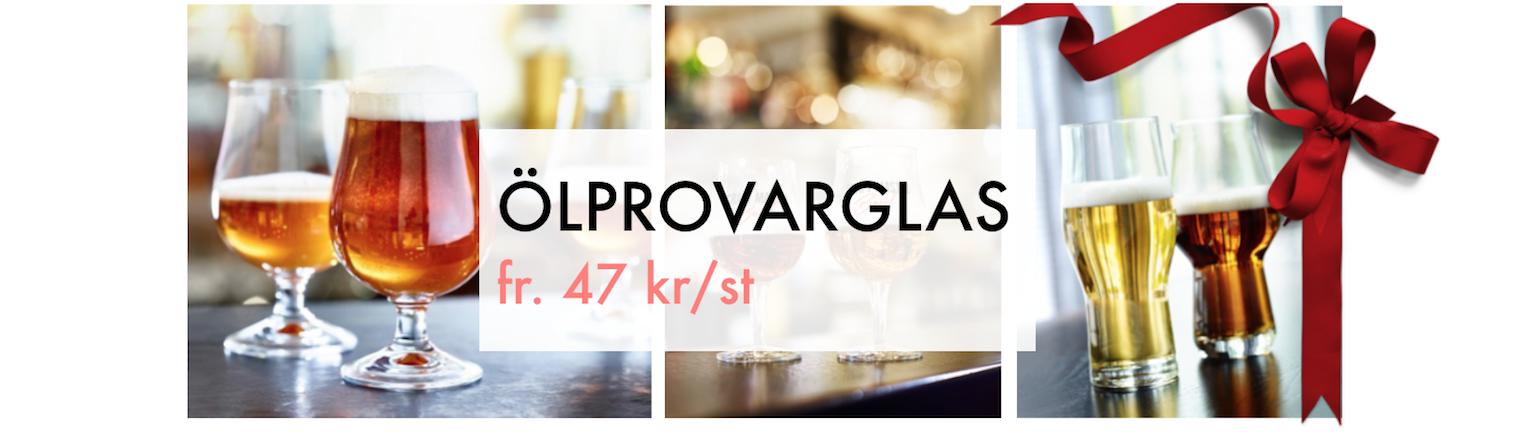 Ölprovarglas Glasspecialisten Julklapp